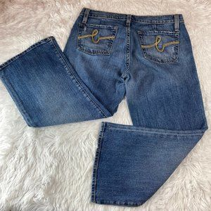 Bebe Denim Capri Blue Jeans